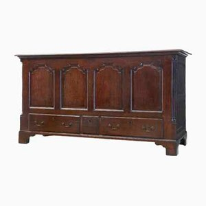 Large 18th Century English Oak Mule Chest Coffer
