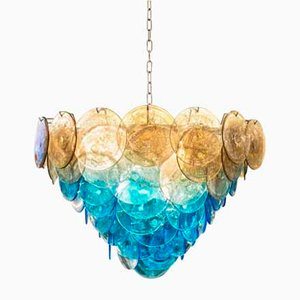 Disc Chandelier by Vistosi, 1970s