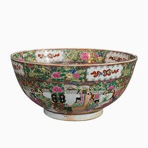 Vintage Art Deco Oriental Famille Rose Bowl, 1940s