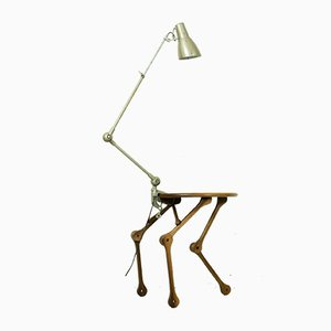 Funky Industrial Robotic Style Table Lamp by Savelkouls