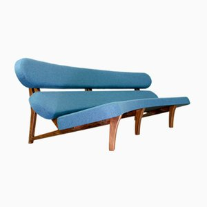 Dutch Curved Sculptural Floating 3-Seat Sofa by Savelkouls