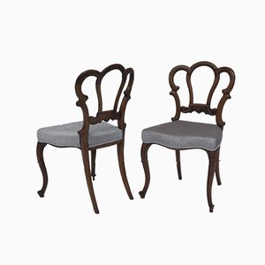 Victorian Walnut Dining Chairs, Set of 4