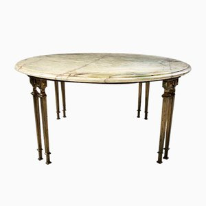 Neoclassical Bronze and Onyx Marble Coffee Table, 1950s