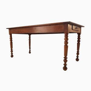 19th Century Blond Walnut Farm Table