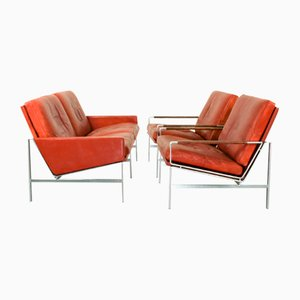 Mid-Century Model FK 6720 Armchairs & Sofa by Preben Fabricius & Jørgen Kastholm for Kill International, Set of 3