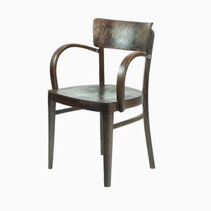 Tschechoslowakischer Armlehnstuhl aus Eiche von Michael Thonet für Thonet, 1930er