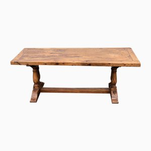 Antique Rustic French Oak Farmhouse Dining Table