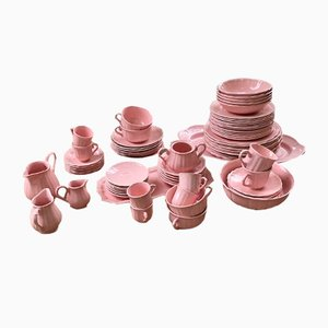 Large Pink Breakfast Set from Salins, 1960s