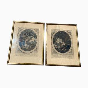Antike Drucke gewidmet Marquise Madame de Montesquiou, 2er Set