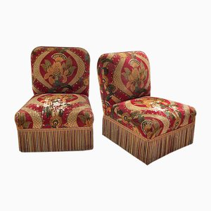 19th Century Napoleon III Lounge Chairs, Set of 2