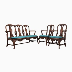 Antique Living Room Set, Set of 3