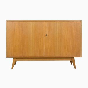 Mid-Century Sideboard with Glass Top by Bohumil Landsman for Jitona