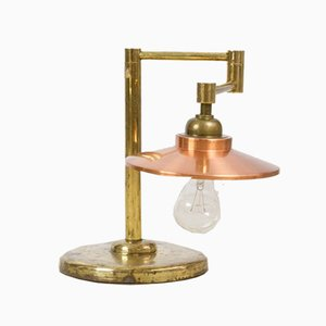 Mid-Century Adjustable Copper Table Lamp, 1950s