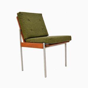 Vintage Teak & Aluminium Lounge or Desk Chair, 1970s