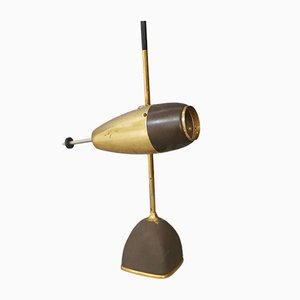 Mid-Century Brass Table Lamp by Oscar Torlasco for Lumi, 1950s