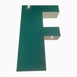 Vintage Plexiglas Letter F Sign