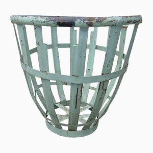 Vintage Industrie Art Deco Metall Gartenkorb