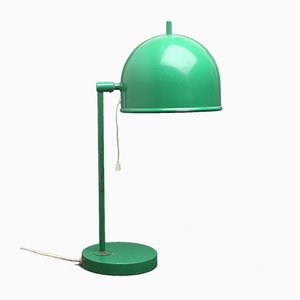 Mid-Century Swedish Green Metal Model B-075 Table Lamp from Bergboms