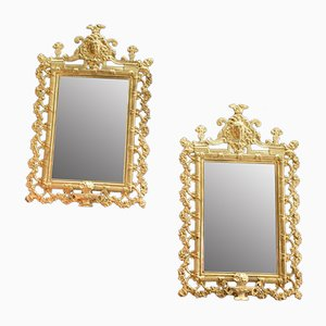 19th Century Louis XIV Style Bronze Mirrors, Set of 2