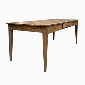 Vintage French Cherrywood Farm Table, 1930s