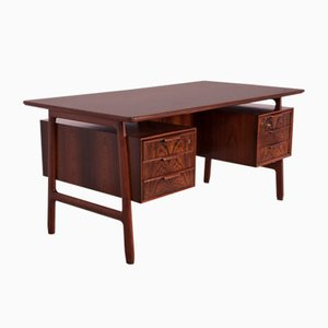 Mid-Century Teak and Rosewood Model 75 Desk from Omann Jun, 1950s