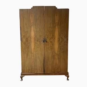 French Walnut Wardrobe, 1930s