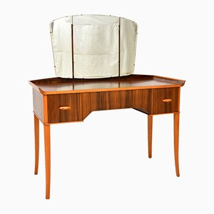 Vintage Walnut Dressing Table, 1950s