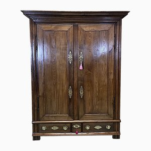 18th Century Chestnut and Oak Wardrobe