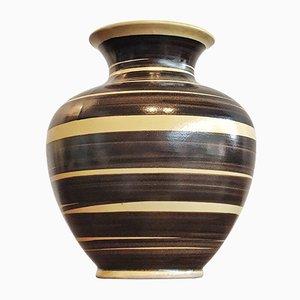 Yellow and Black Nr. 103/21 Vase from Elma Keramik, 1950s