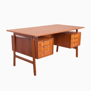 Mid-Century Teak Model 75 Desk from Omann Jun, 1950s
