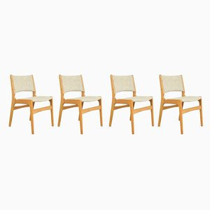 Mid-Century Danish Dining Chairs by Erik Buch, 1960s, Set of 4