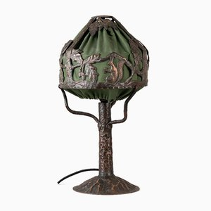 Art Nouveau Swedish Copper Table Lamp