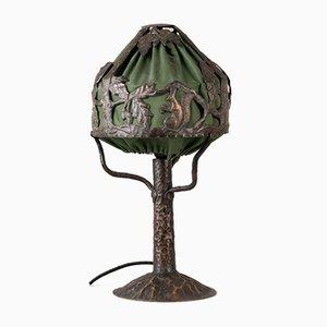 Art Nouveau Swedish Copper Table Lamp