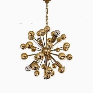 Vintage Brass Sputnik Chandelier, 1970s