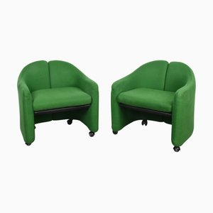 Mid-Century Italian Model PS142 Lounge Chairs by Eugenio Gerli for Tecno, 1966, Set of 2