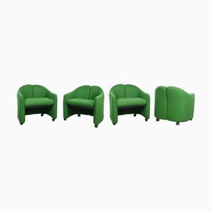 Mid-Century Italian Model PS142 Lounge Chairs by Eugenio Gerli for Tecno, 1966, Set of 4