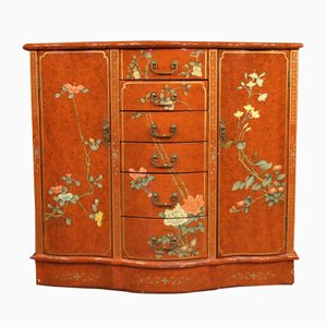 French Lacquered Chinoiserie Sideboard, 1970s