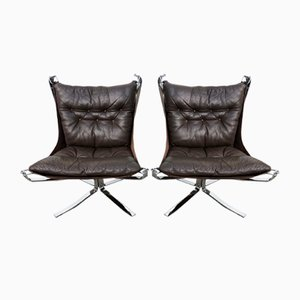 Steel Falcon Chairs by Sigurd Ressell for Vatne Møbler, 1970s, Set of 2