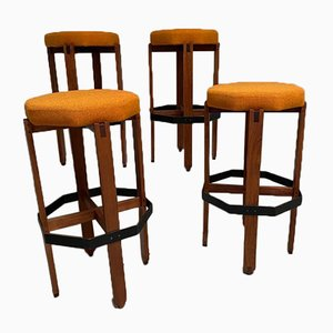 Bar Stools by Ico Parisi, 1960s, Set of 4