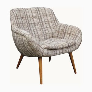 Brown Beige Club Chair, 1950s