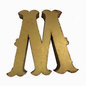 Vintage Metal Letter M Sign