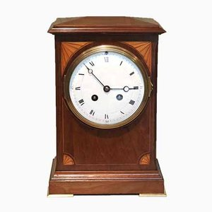 Antique Edwardian Chamfer Top Mantel Clock