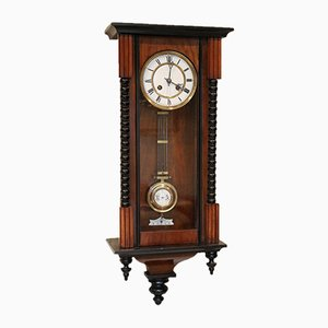 Small Vienna Regulator Style Wall Clock, 1880s