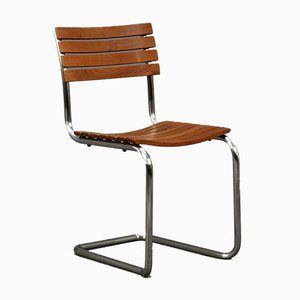 S40 Iroko Wood Outdoor Cantilever Chair from Thonet