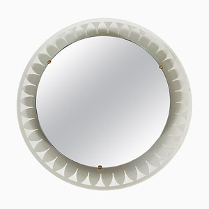 Mid-Century Metal Illuminated Mirror from Hillebrand, Germany, 1960s