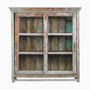 Patinated Wood Showcase, 1940s