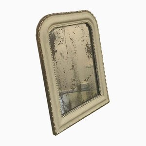 Small French Off-White Painted Mirror
