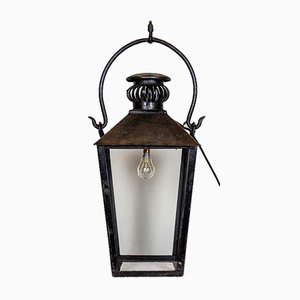Wrought Iron Lanterns, Set of 2