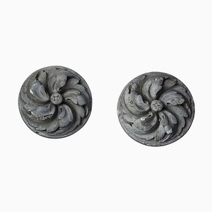 Stone Finials from Brussels House, Set of 2