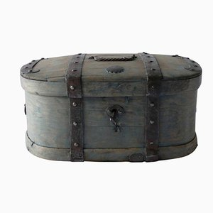 19th Century Swedish Wooden Travelling Trunk